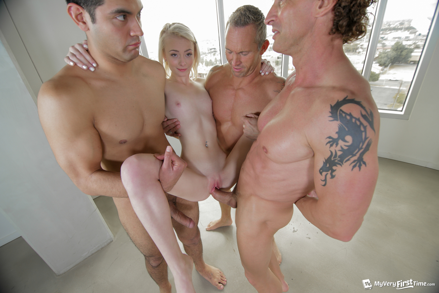 Brutal vaginal fisting gang bang-8556