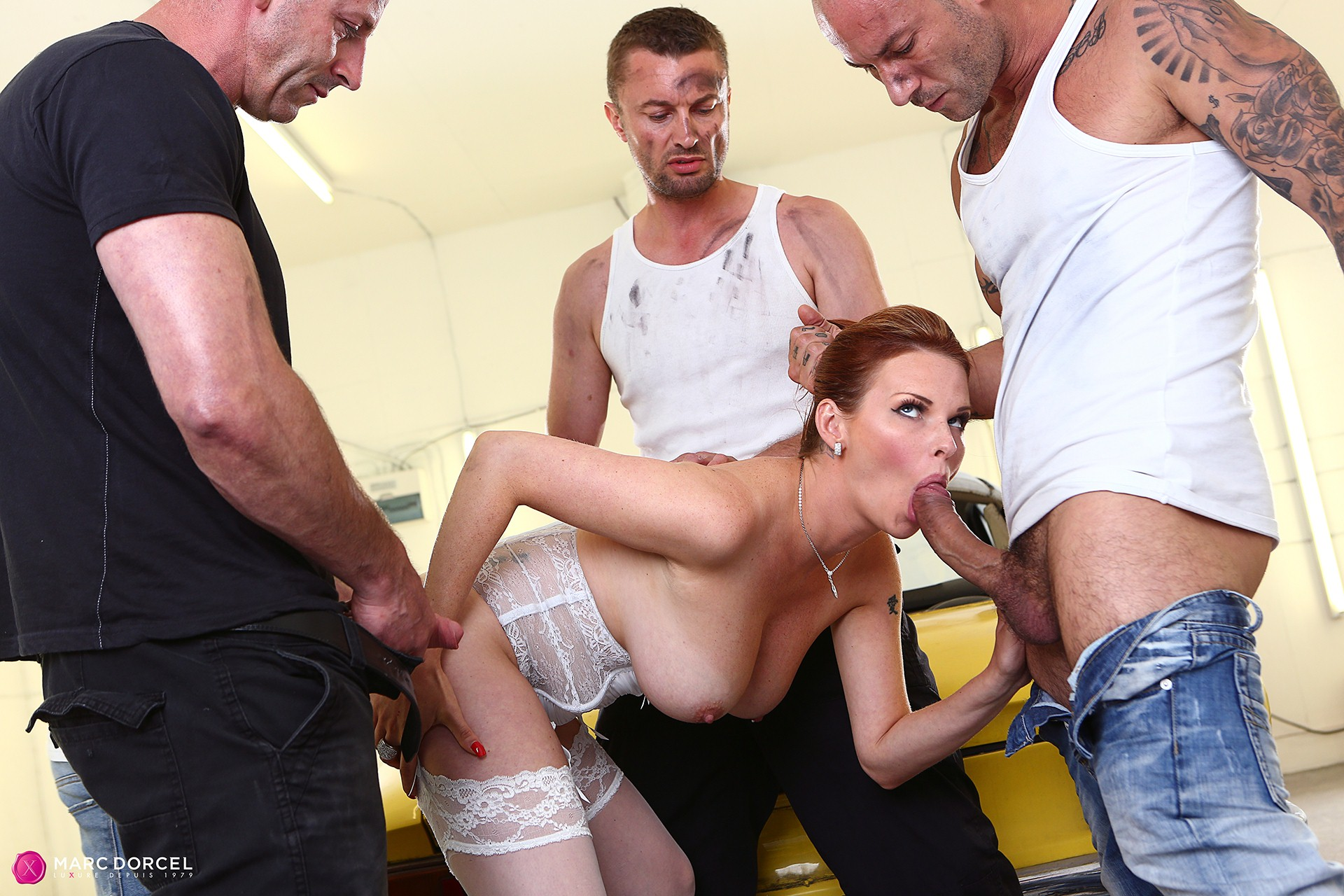 image Horny french redhead hard anal fucked with cum to mouth