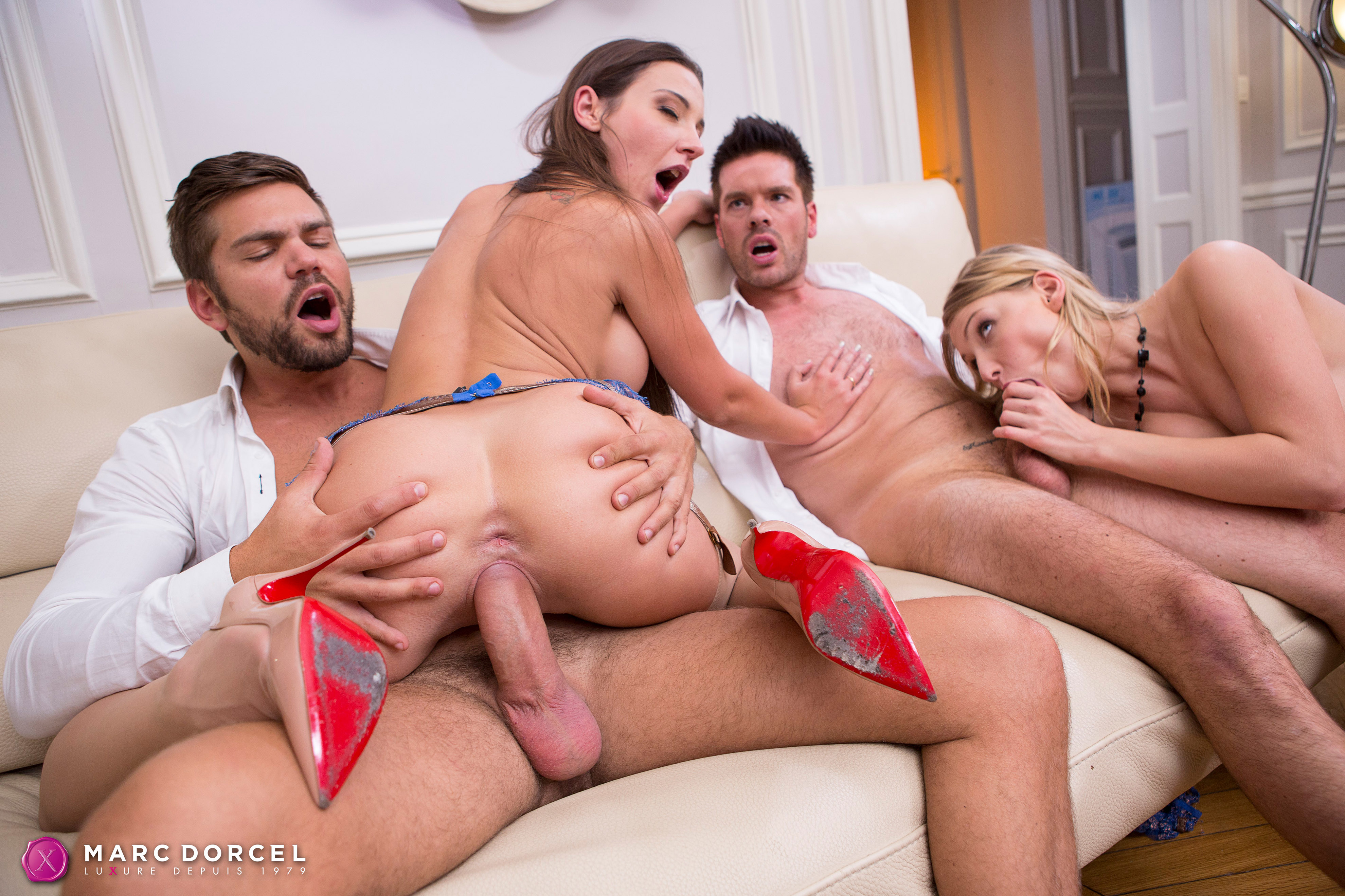 Julie Skyhigh And Lucy Heart In Nice Orgy Between Friends -3691