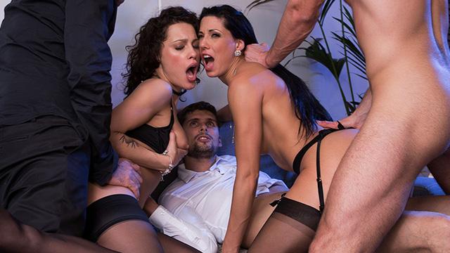 Nikita Bellucci  Alexa Tomas In Anal Sex Party With 3 Men -2665
